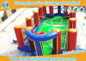 China Airtight Inflatable Football Playground Soap Soccer Field Court Shape For Beach Game on sale