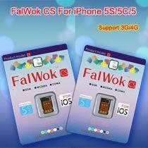 China Nano FalWok CS Unlock sim card for iPhone 5/5S/5C Work 3G/4G on sale