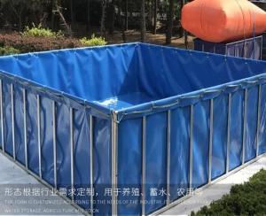 China 1000 Litres Tarpaulin Fish Tank ,  Foldable Fish Tank For Aquaculture Farms MOQ 1 Piece on sale