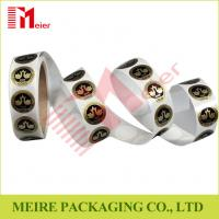 China Small round shaped sticker printing in roll for cake packaging design on sale