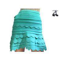 Anti Pilling Ladies Knit Skirts Green Color Office Suit for Spring S XXL Customized
