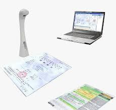 China Video A4 Photo / Card Handheld Document Scanner White , Black on sale