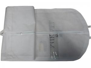 China Customized Michael White Dress Bags, Suit Garment Bag With PVC Window, White Zipper on sale