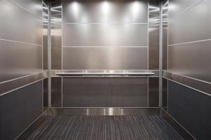 China Metallic Luster Stainless Steel Elevator Panels Strong Reflection Sound Insulation on sale
