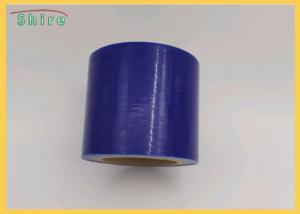 China Blue Self Adhesive Window Glass Anti Dirt 60micron 1220mm PE Protection Film on sale