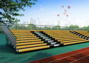 China Galvanized Steel Yellow Bleacher Stadium Seats Extra Wide 764mm High Safety on sale