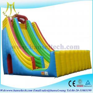 China Hansel Popular New Arrive Cartoon Inflatable Slide for Kids Safe on sale
