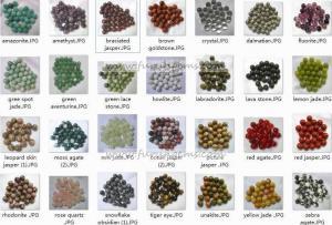 China round beads -semi-precious stone on sale
