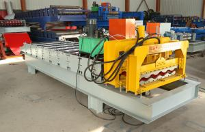 China Roofing Glazed Step Tiles Roll Forming Machinery For IBR And Corrugated Roof Sheet on sale