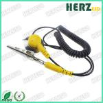Banana Plug Cord ESD Safety Strap For Electronic / Pharmaceutical Industry