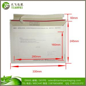 China (FREE DESIGN) 330x245mm Customized printed Rigid express Cardboard Envelopes for mailer on sale