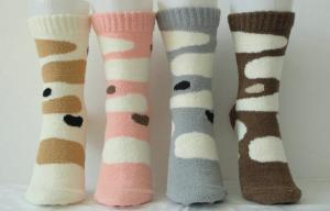 China Warm Cashmere Knitted Ladies Cashmere Socks With Hand Link for Winter on sale