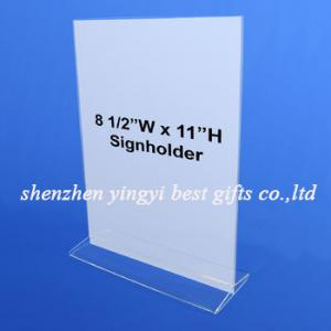 """China Best selling  Acrylic Top Load Card Holder 8.5"""" x 11"""" on sale"""