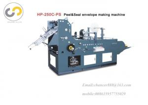 China Automatic pocket envelope making machine with peel and seal function on sale