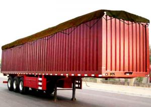 56b210b6ff Hot Sale China brand new box truck trailer 3 axles 50tons 48ft Enclosed Van