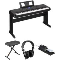 In Stock and free shipping Yamaha DGX-660 88-Key Digital Piano Kit with Bench, Pedal & Headphones (Black)