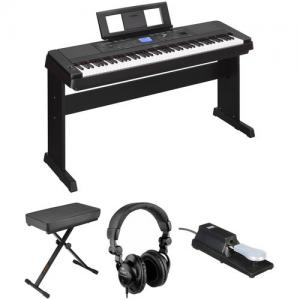 China In Stock and free shipping Yamaha DGX-660 88-Key Digital Piano Kit with Bench, Pedal & Headphones (Black) on sale