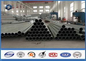 China 8M Octagonal Hot Dip Galvanized Steel Pole Metal Posts 135mm / 196mm Diameter on sale