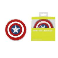 Wireless Samsung Cell Phone Chargers Dock Pad Avengers Captain America Shield S6
