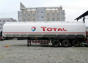 China Heavy Duty 3 Axle 45000L Oil Tanker Semi Trailer 4 Compartments 45M3 For Transporting Oil on sale