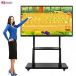 3840x2160 75 Inch Indoor Interactive Whiteboard Infrared Monitor RoHS