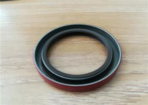 China OEM auto FKM rubber double lip spring oil seal, silicone rubber gearbox rotary spring oil seal on sale