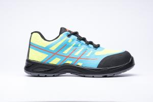 China low cut light weight safety work shoes woven+tpu upper, dual pu outsole, steel toe&steel plate available on sale