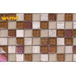 Various Glass Ceramic Mosaic Tiles , Stone And Glass Mosaic Tile Mixes