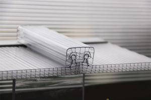 China U Lock Corrugated Polycarbonate Sheets R Structure Shape OEM / ODM Available on sale
