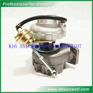 China BorgWarner K16 Turbocharger 53169887015 53169887107 53169707107 53169707015 for Mercedes-BENZ ATEGO 917 OM904LA-E2 Engin on sale