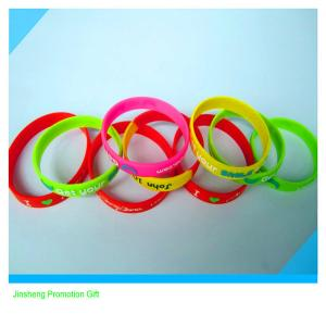China promotional embossed silicone wristband on sale