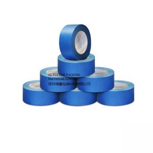China Waterproof 3M Masking Adhesive Tape Blue Heat Resisitance With UV Resist Crepe Paper on sale