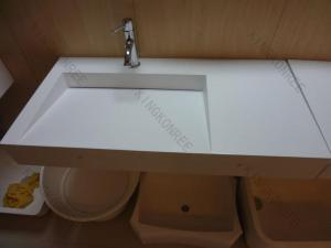 China Italy Design acrylic solid surface wall hung wash basin on sale
