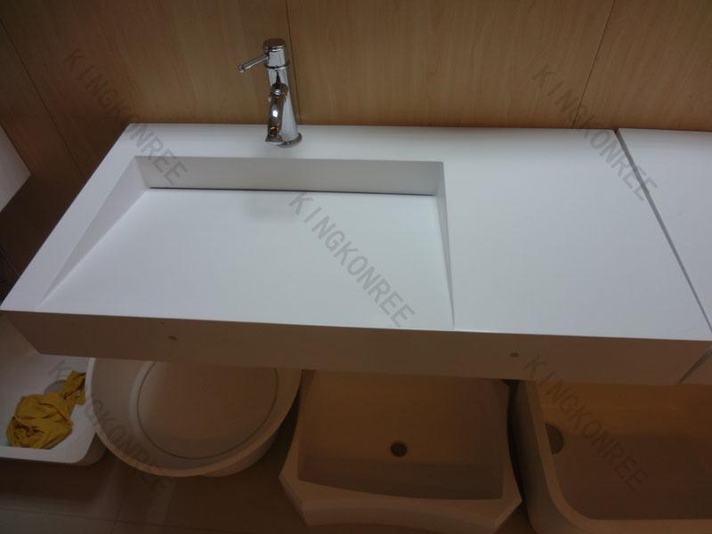 Italy Design Acrylic Solid Surface Wall Hung Wash Basin