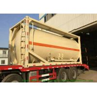 China 20FT Bulk Cement Tank Containers 20000L -  22500L With Carbon Steel Frame on sale