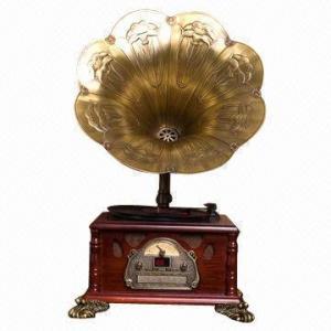 China el gramófono/el fonógrafo con CD y la radio de 3 velocidades funcionan on sale