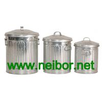 galvanized storage cans storage bins with lid 4L 7L 10Litres