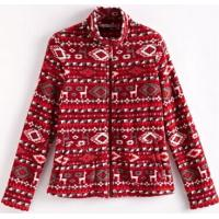 China Men's Print Polar Fleece Jacket on sale