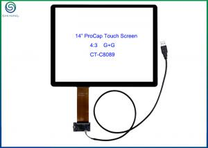 China 14 USB Interface Projected Capacitive Touch Screen Panel For Commercial Kiosks on sale