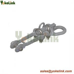 China High quality Double bolted Aluminum Straight line strain clamp with good price on sale