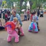 Hansel Plush Animals Motorized Animal Rides For Mall Motorized Animals Plush For Car