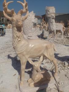 China stone animal deer carving on sale