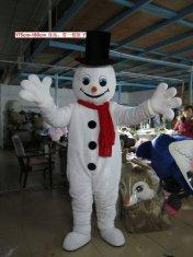 Quality Handmade Propaganda Adult White Snowman Mascot Costume for sale
