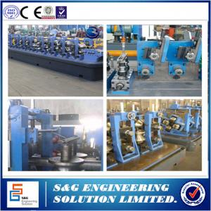 China Automated Roll Forming Mill Ss Pipe Welding Machine 100 ~ 400mm Steel Coil Width on sale