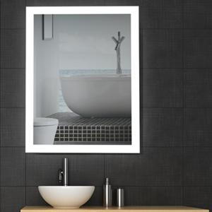 China 5mm Copper Free High Definition Modern Backlit Bathroom Mirror Eco Glass Silver on sale