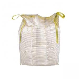 Quality 1 Ton White Anti Static Bulk Bags For Dangerous Goods Printed Conductive Type for sale