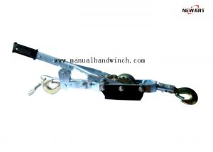China Capacity 4000kg Transmission Line Tool Hand Cable Puller 4T Singe Gear Three Hooks Heat Treatment on sale