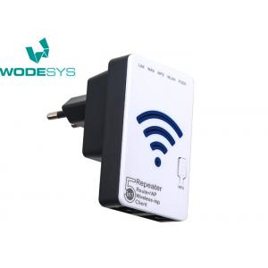 China Portable 300Mbps Wireless WiFi Router Reeapter With 2 RJ45 Ports Black Color on sale