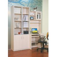 Wood White Bookcase With Glass Doors , Solid Oak Desks For Home Office
