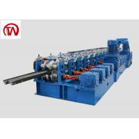 China Metal Construction Highway Guardrail Roll Forming Machine 3 Waves Gear Box on sale